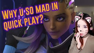 Download Trio becomes TOXIC in QUICKPLAY because I pick Sombra   Toxic Overwatch 4 Video