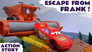 Download CARS Escape From Frank Toy Story & Funny Tractor Tipping Play Doh Fun Kids Toys Unboxing Play Video
