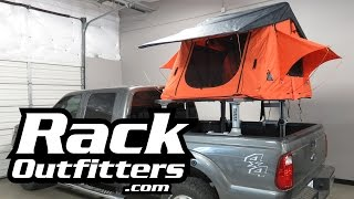 Download Tepui Kukenam Ruggedized Roof Top Tent on Ford F250 and Xsporter Truck Rack Video