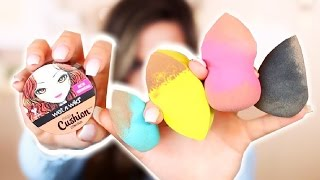 Download NEW Drugstore Sponges & CUSHION Contour! Demo & Review | Casey Holmes Video