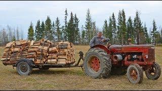 Download 1948 McCormick Deering Tractor Hauling Firewood Video