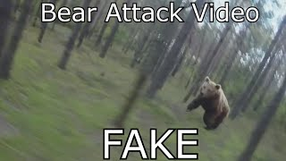 Download Bear Attack, Man is trying to run away from attacking Bear: GoPro - WHY IT IS FAKE! Video