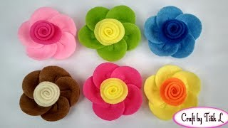 Download DIY How to Make Flower Brooch from Felt    Cara Membuat Bros Bunga dari Kain Flanel Video