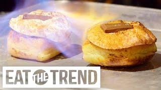 Download Fiery Doughnuts at the Gastro Garage   Eat the Trend Video