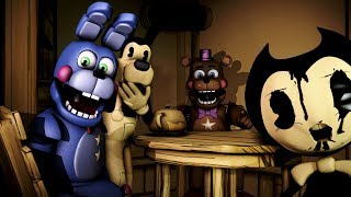 Download [FNAF/ BENDY] Bendy And Bonnie Fight An ancient Monster Animation Short Film Video