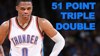 Download Westbrook Posts First 50+ Point Triple Double Since 1975 Video