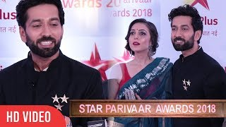 Download Nakuul Mehta And Jankee Parekh At Star Parivaar Awards 2018 | Ishqbaaaz Video
