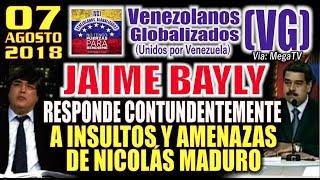 Download (7/8/18) - Jaime Bayly RESP0NDE C0NTUNÐENTEMENTE a lNSULT0S y AMENĄZAS de Nicolás Maduro – (VG) Video