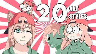 Download THE 20 ART STYLE CHALLENGE!!! Video