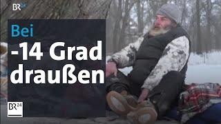 Download Obdachlose in der Kälte - Bei minus 14 Grad nachts im Schlafsack Video