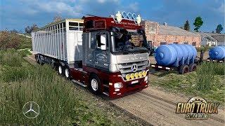 ETS2 1 30 Rusmap 1 8 Mercedes 1632 NG Ostashkov - Valday Free