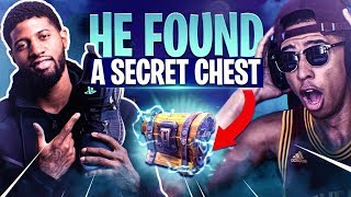 Download Playing Fortnite with NBA ALL-STAR Paul George! NEVER BEFORE SEEN CHEST! Fortnite Battle Royale Video