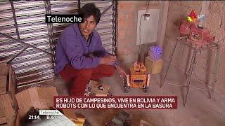 Download E.Quispe arma robots con basura, en ″Telenoche″ de Santillán y Biasatti con Wiemeyer Video