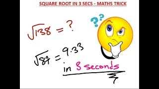 Download How to Find the Square Root of ANY Number Instantly in 3 secs Video