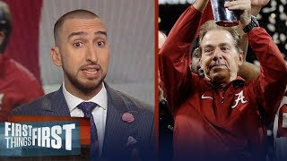 Download Nick Wright reacts to Nick Saban's 5th title for the Alabama Crimson Tide | FIRST THINGS FIRST Video