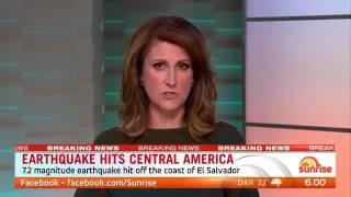 Download Earthquake El Salvador & Nicaragua - Central America Earthquake - Tsunami Alert Video
