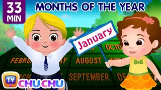 Download Months of the Year Song - January, February, March and More Nursery Rhymes for Kids by ChuChu TV Video