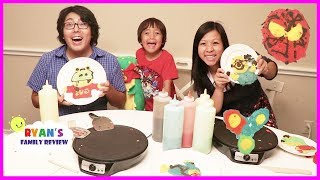Download Family Pancake Art Challenge Mommy VS Daddy! Video