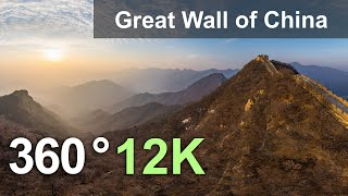 Download 360 video teaser, Great Wall of China. Jiankou and Jiaoshan, 12K VR aerial video Video