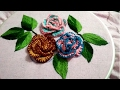 Download Hand embroidery 3D flower with cast on and blanket stitch Brazilian embroidery Video