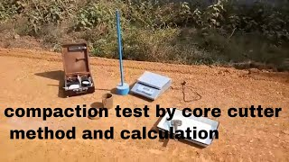 Download Dry density of soil compaction test by core cutter method and calculations road construction Civil. Video