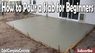 Download How to Pour a Concrete Slab for Beginners DIY Video