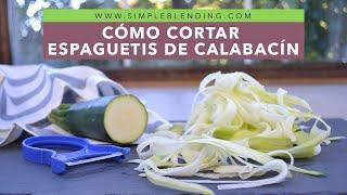 Download Cómo hacer espaguetis de calabacín | Tallarines de calabacín | Sin espiralizador Video