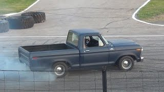 Download 1975 Ford F100 CLOSE CALL (Spectator Drags) Video