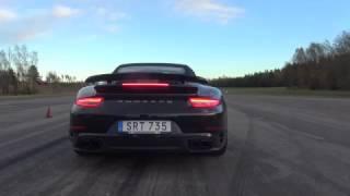 Download [4k] Launch Porsche 911 Turbo S Convertible 991 Video