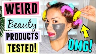 Download TRYING WEIRD BEAUTY PRODUCTS! Video
