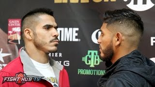 Download Jesus Cuellar & Abner Mares have intense face off in Los Angeles 10 days before fight! Video