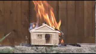Download Model House Burning Down and House Explosions Video