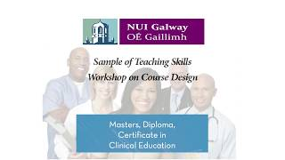 Download Sample of Teaching Skills - Clinical Education programme Video