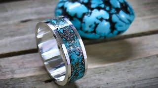 Download How to make a silver and turquoise inlay ring without a lathe Video