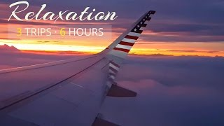 Download Airplane Sounds Compilation | Airplane cabin white noise for Sleeping | 3 Trips · 6 Hours Video