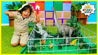 Download Ryan works at Jurassic World protecting Dinosaurs from The Indominus Rex!!! Video