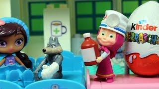 Download Szpital - Masza i Niedźwiedź & Świnka Peppa & Małe Czarodziejki & Kinder Nispodzianka - bajka Video