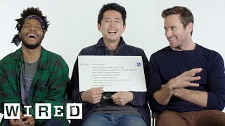 Download Steven Yeun, Armie Hammer & Jermaine Fowler Answer the Web's Most Searched Questions | WIRED Video