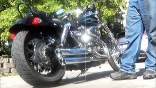 Download Stock Harley Wide Glide Mufflers versus Cobra 3″ slip-on mufflers. Video