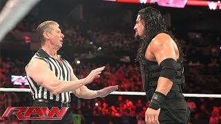Download Reigns vs. Sheamus - Mr. McMahon Guest Ref. for WWE World Heavyweight Title: Raw, Jan. 4, 2015 Video