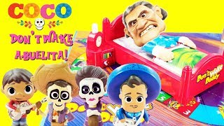 Download Disney COCO Don't Wake Abuelita! Game Toy Surprises Miguel, Hector, Mama Imelda, Ernesto De La Cruz Video