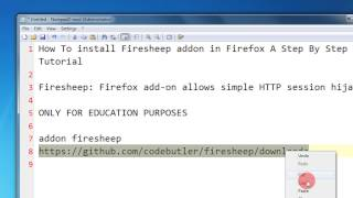 Download How To install Firesheep addon in Firefox A Step By Step Tutorial Video