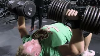 Download 150lb Dumbbell Bench Press Attempt | Furious Pete Video