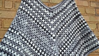 Download DIY - granny stripe poncho Video