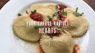 Download Four Cheese Ravioli Hearts Video