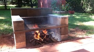 Download Cinder Block Grill: Build One Yourself!! Video