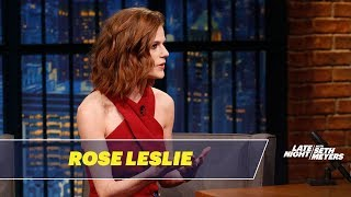 Download Rose Leslie Won't Let Kit Harington Read Game of Thrones Scripts Near Her Video
