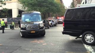 Download CUBAN PRESIDENT, RAUL CASTRO'S, MOTORCADE HEADING TO THE UNITED NATIONS GENERAL ASSEMBLY MEETINGS. Video