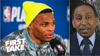 Download Russell Westbrook's behavior at press conferences is 'uncalled for' - Stephen A. | First Take Video