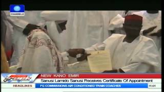 Download New Kano Emir: Sanusi Lamido Sanusi Receives Certificate Of Appointment Video